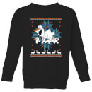 Frozen Olaf and Snowmen Kids' Christmas Sweatshirt - Black