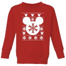 Disney Snowflake Silhouette Kids' Christmas Sweatshirt - Red