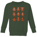 Star Wars Gingerbread Characters Kids' Christmas Sweatshirt - Forest Green