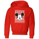 Disney Mickey Face Kids' Christmas Hoodie - Red