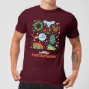 National Lampoon Griswold Christmas Starter Pack Men's Christmas T-Shirt - Burgundy