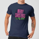 National Lampoon Merry Christmas (Kiss My @$$) Men's Christmas T-Shirt - Navy