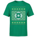 DC Green Lantern Knit Men's Christmas T-Shirt - Kelly Green