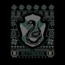 Harry Potter Slytherin Crest Men's Christmas T-Shirt - Black