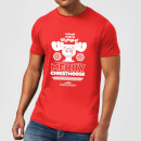 National Lampoon Merry Christmoose Men's Christmas T-Shirt - Red