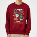 National Lampoon Griswold Christmas Starter Pack Christmas Sweatshirt - Burgundy