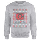DC Cyborg Knit Christmas Sweatshirt - Grey