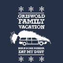 National Lampoon Griswold Vacation Ugly Knit Christmas Sweatshirt - Navy