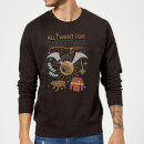 Harry Potter All I Want Christmas Sweatshirt - Black