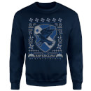 Harry Potter Ravenclaw Crest Christmas Sweatshirt - Navy