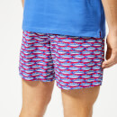 Vilebrequin Men's Moorea Fish Print Swim Shorts - Gooseberry Red