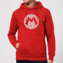 Nintendo Super Mario Mario Items Logo Hoodie - Red