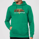 Nintendo The Legend Of Zelda Retro Logo Hoodie - Kelly Green