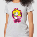 Nintendo Super Mario Peach Kanji Women's T-Shirt - Grey