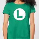 Nintendo Super Mario Luigi Logo Women's T-Shirt - Kelly Green