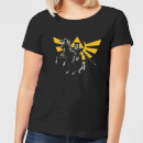 Nintendo Legend Of Zelda Hyrule Link Women's T-Shirt - Black