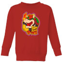 Nintendo Super Mario Bowser Kanji Kid's Sweatshirt - Red
