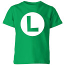 Nintendo Super Mario Luigi Logo Kid's T-Shirt - Kelly Green