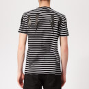 Neil Barrett Men's Bolt Wings Striped T-Shirt - Black/Black