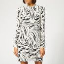 MSGM Women's Zebra Print Dress - Multi