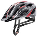 Uvex Magnum Bicycle Helmet - Black Matte/Red