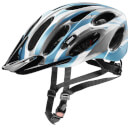 Uvex Magnum Bicycle Helmet - Silver Matte/Blue