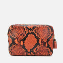 Anya Hindmarch Women's Double Zip Wallet on Strap - Natural/Burnt Sienna