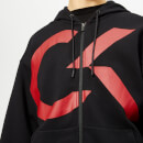 Calvin Klein Performance Men's Full Zip Hoody - CK Black/Racing Red