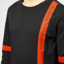 Calvin Klein Performance Men's Long Sleeve T-Shirt - CK Black/Cherry Tomato