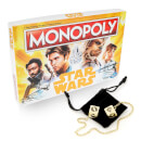 Star Wars Limited Edition Han Solo Collectable Lucky Dice & Solo Monopoly Bundle
