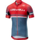 Castelli Free AR 4.1 Jersey - Red/Light Steel Blue - S