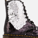 Dr. Martens Women's 1460 Sequin Pascal 8-Eye Boots - Black/Silver