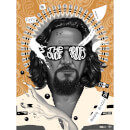 "The Big Lebowski 20th Anniversary ""The Dude Abides"" 18 x 24 Inch Screenprint (Variant) by Doaly - Zavvi Exclusive Limited Edition"