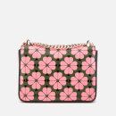 Kate Spade New York Women's Amelia Spade Flower Small Shoulder Bag - Bright Pink Multi