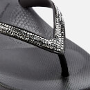 FitFlop Women's iQushion Sparkle Flip Flops - Black