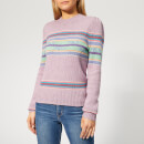 Polo Ralph Lauren Women's Puff Sleeve Sweater - Lilac Multi