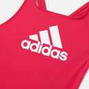 adidas Young Girls' BOS Swimsuit - Pink