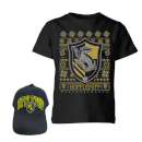 Harry Potter Hufflepuff T-Shirt and Cap Bundle - Black
