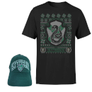 Harry Potter Slytherin T-Shirt and Cap Bundle - Black