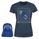 Harry Potter Ravenclaw T-Shirt and Cap Bundle - Navy