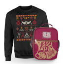 Harry Potter Hogwarts Sweatshirt & Bag Bundle - Black