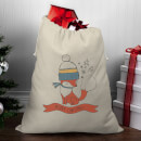 Winter Fox Christmas Santa Sack