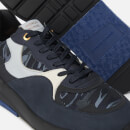 Android Homme Men's Malibu Metallic Camo Nubuck Trainers - Navy/Sky