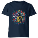 Aquaman Circular Portrait Kids' T-Shirt - Navy