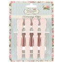 The Vintage Cosmetic Company 4 Piece Sectioning Clips - Soft Touch Pink