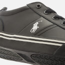Polo Ralph Lauren Men's Hanford Leather Trainers - Black/Black