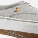 Polo Ralph Lauren Men's Thorton Washed Twill Vulcanised Trainers - Soft Grey
