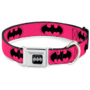Buckle-Down DC Comics Batman Dog Collar - Black/Silver (Various Sizes) - L/15-26 Inches