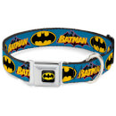 Buckle-Down DC Comics Batman Vintage Dog Collar - Blue (Various Sizes)