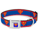 Buckle-Down DC Comics Superman Dog Collar - Blue (Various Sizes)